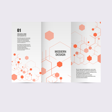 Modern Hexagon Design. Vector achtergrond. Stock Illustratie