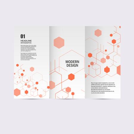 hexagon background: Modern Hexagon Design. Vector background.