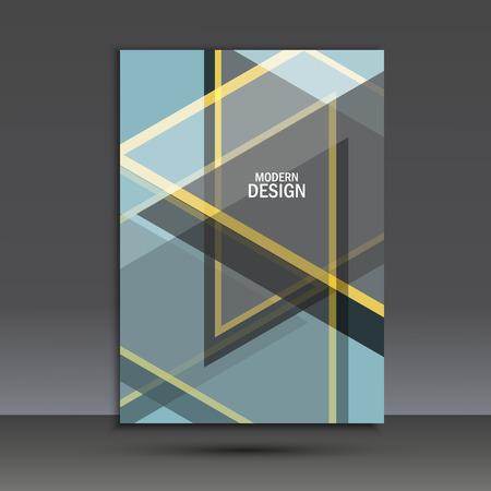 portadas de libros: plantilla de diseño de diseño del folleto del vector en A4. Vectores