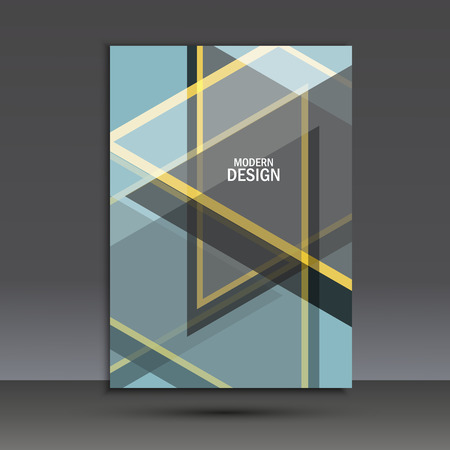 business book: Vector brochure design layout template in A4.