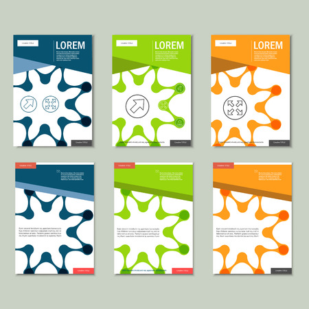 figuras abstractas: Vector brochures with abstract figures. Design pattern.