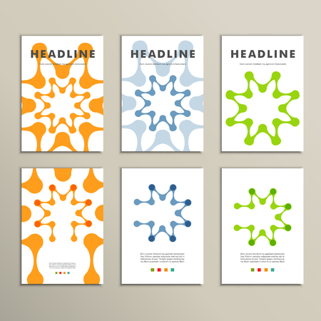 abstract figures: Vector brochures with abstract figures. Design pattern.