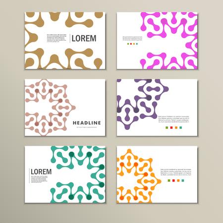 figuras abstractas: folletos vector con las figuras abstractas. Patrón de diseño. Vectores