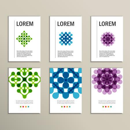 molecula: Conjunto moderno concepto de símbolo tecnología. vector plantilla de diseño.