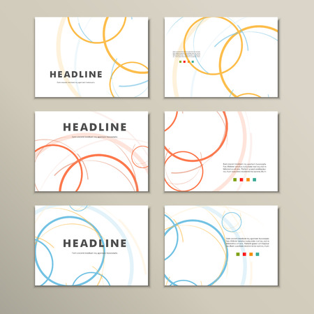 moody: Vector abstract circle set.