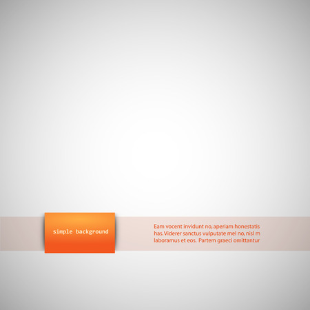 inserts: Simple gray background with color inserts. Illustration