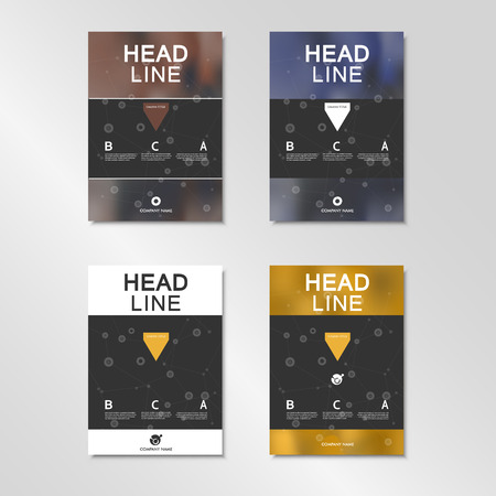layout: Vector brochure layout design template.