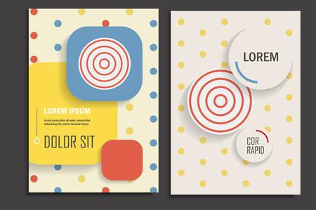 circles: Brochure design template circles