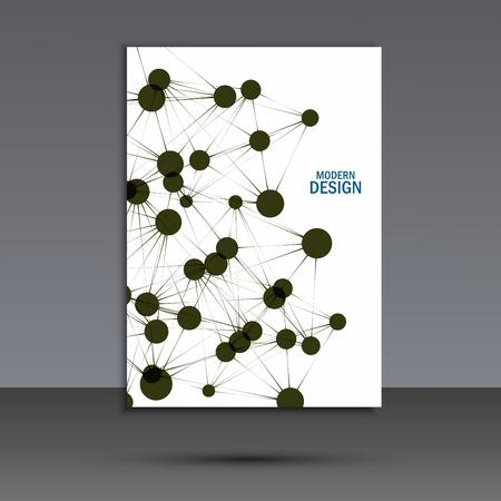 vector  molecular: Vector abstract molecular structure. Cover template design.