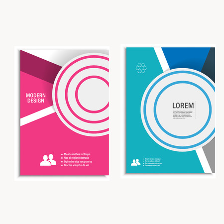 computer art: Cover brochure template layout, design annual report, magazine, flyer, booklet with geometric background. Vector Illustration. Illustration