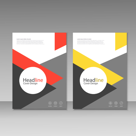 magazine design: Vector brochure, magazine, cover design, poster template.