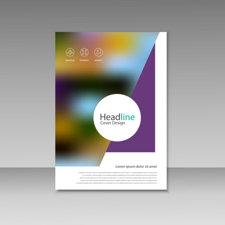 vector brochure magazine cover design poster template royalty
