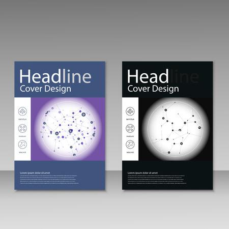 vector  molecular: Vector abstract molecular structure. Brochure template design. Illustration