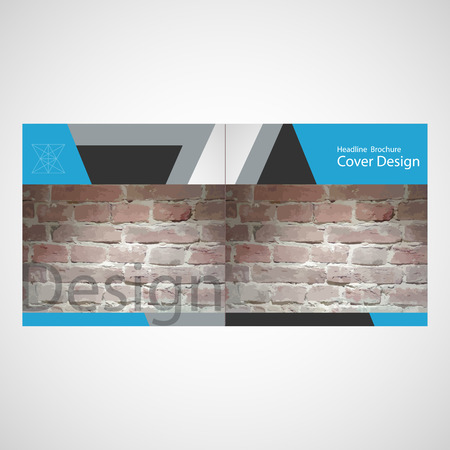 stonework: Vector brick wall brochure Illustration