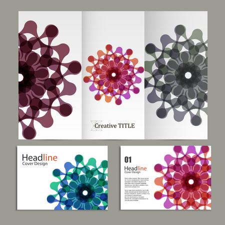 abstract figures: Vector pattern flyer and brochure with abstract figures.