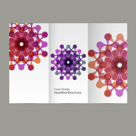 abstract figures: Vector pattern flyer with abstract figures. Illustration