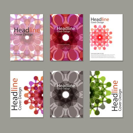 figuras abstractas: Seis patr�n folleto del vector con las figuras abstractas.