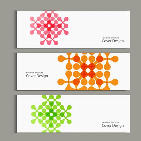figuras abstractas: Modelo del vector con las figuras abstractas banderas. Vectores