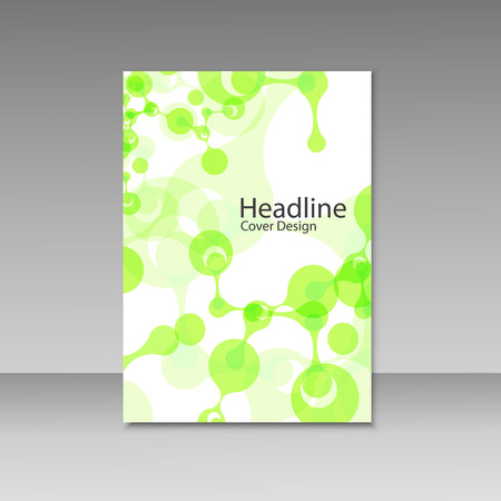 composition book: Abstract connecting composition for annual report, brochure template design, book cover. Vector illustration.