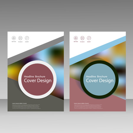 magazine template: Vector brochure, magazine, cover design, poster template.