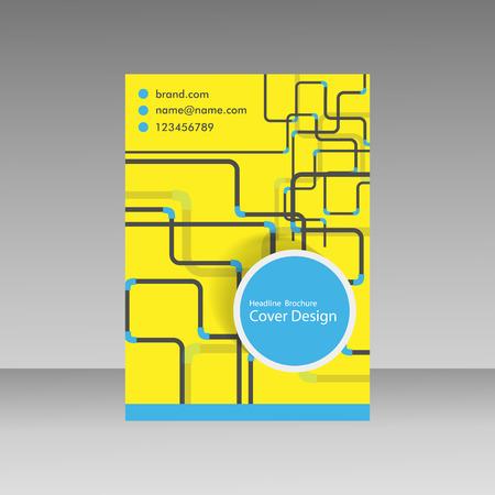 conduit: Pipe Vector template brochure.