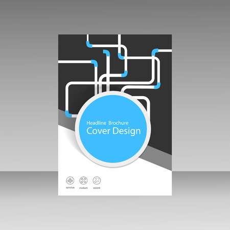 piping: Abstract piping pattern. Cover design. Illustration