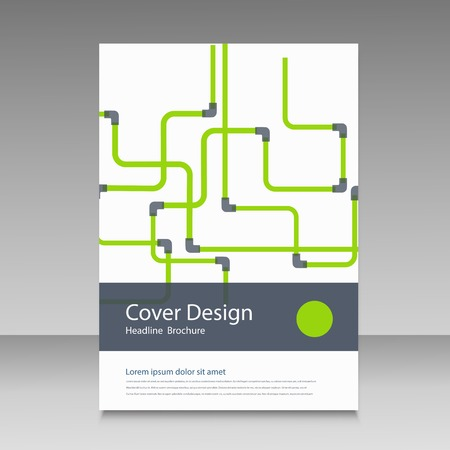 conduit: Abstract piping pattern. Cover design. Illustration