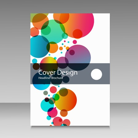 Abstract color circles. Cover design template. Çizim