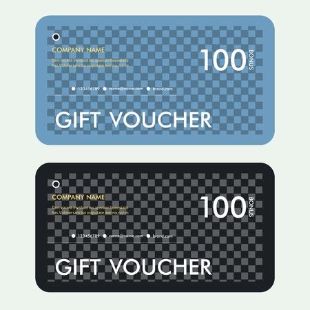 restaurant bill: Gift voucher certificate coupon template. Vector cover design. Illustration