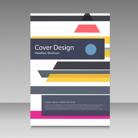 straight lines: Straight lines abstract vector brochure template.