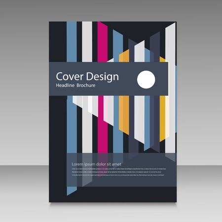 straight: Abstract straight lines cover brochure.