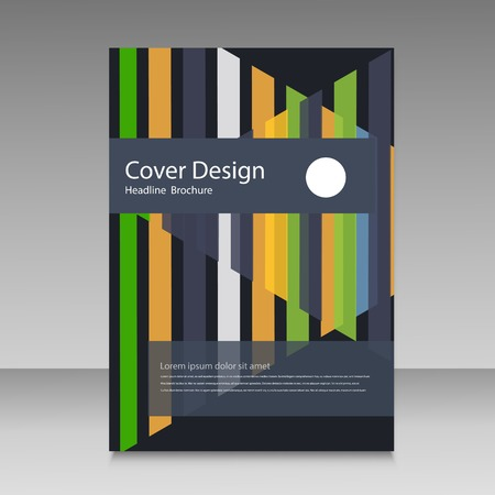 straight lines: Abstract straight lines cover brochure.