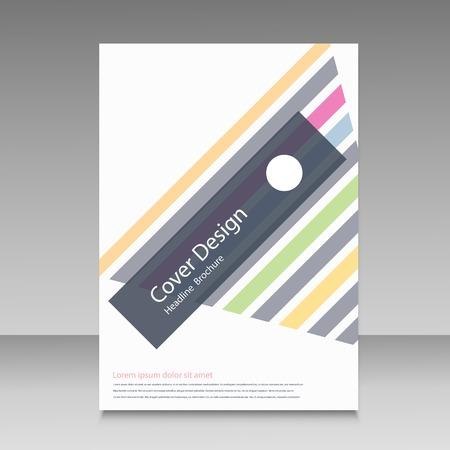 lineas rectas: líneas rectas abstractas cubierta del folleto.