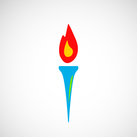 burning: Burning torch vector icon. Stock Photo
