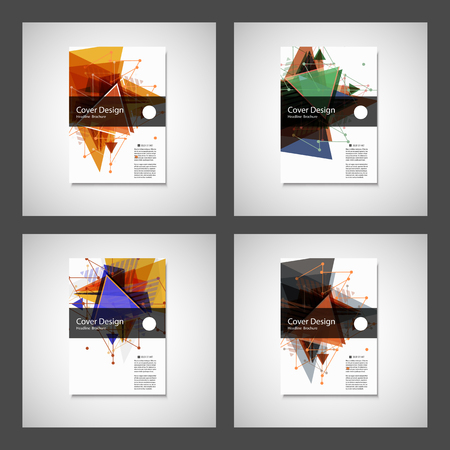 Abstract Triangle Brochure design. Modern vector illustration.