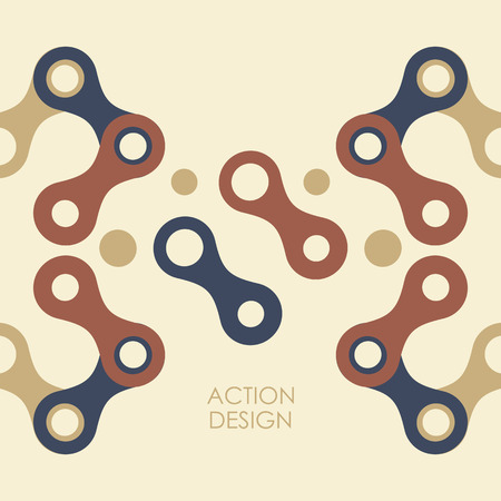 abstract figures: Vector pattern with abstract figures.