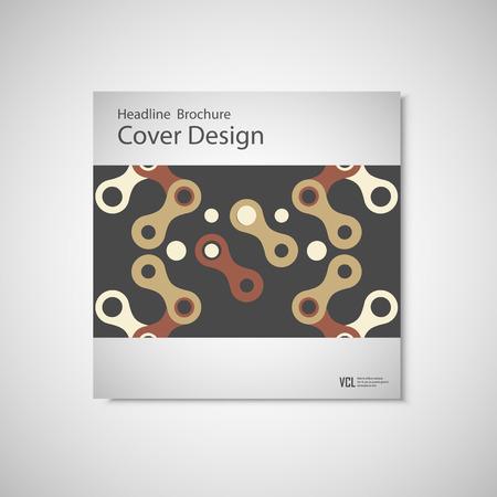figuras abstractas: plantillas de diseño de folletos. Modelo del vector con las figuras abstractas. Vectores