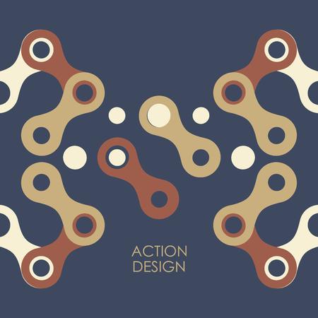 figuras abstractas: Modelo del vector con las figuras abstractas. Vectores