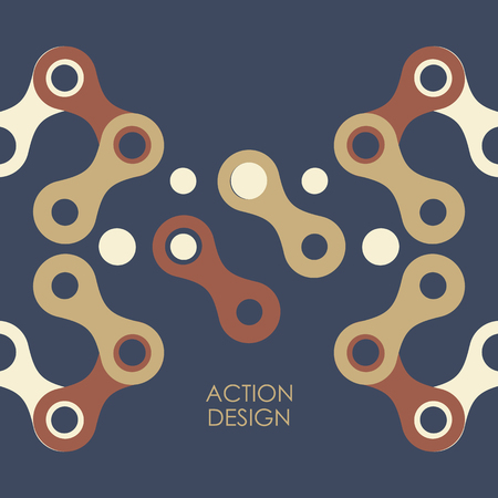 figuras abstractas: Vector pattern with abstract figures.