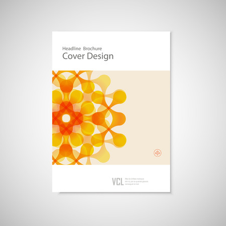figuras abstractas: Vector brochure with abstract figures. Modern connect pattern.