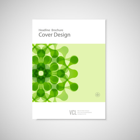 abstract figures: Vector brochure with abstract figures. Modern connect pattern.
