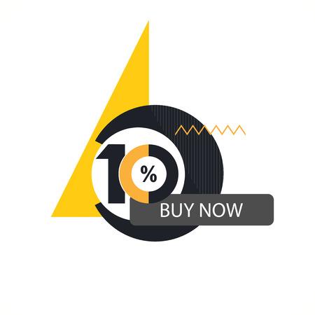 inheritance: Ten symbol, years, anniversary logo, discount.