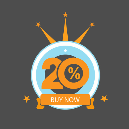 Twenty discount icon. Sales design template. Shopping and low price symbol. Illustration