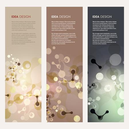 Abstract molecules design. Vector illustration Ilustrace