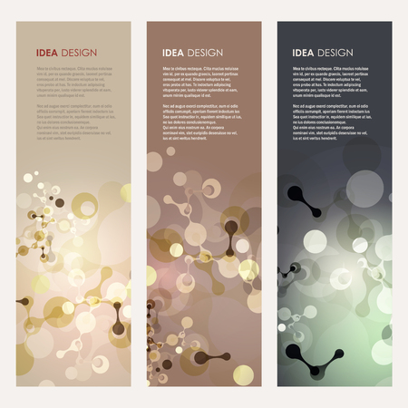 Abstract molecules design. Vector illustration Illustration