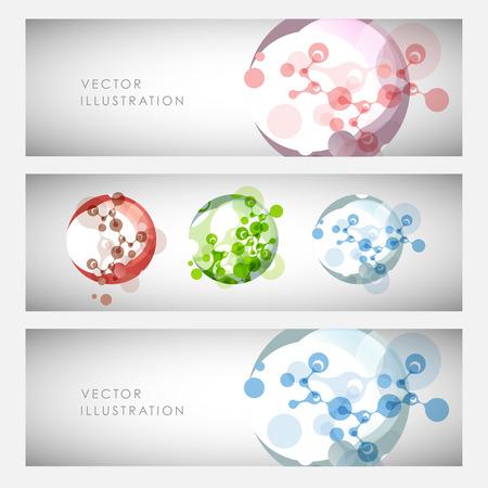 Abstract molecules design. Vector illustration. Illustration