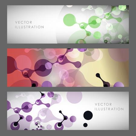 Abstract molecules design. Vector illustration. Ilustrace