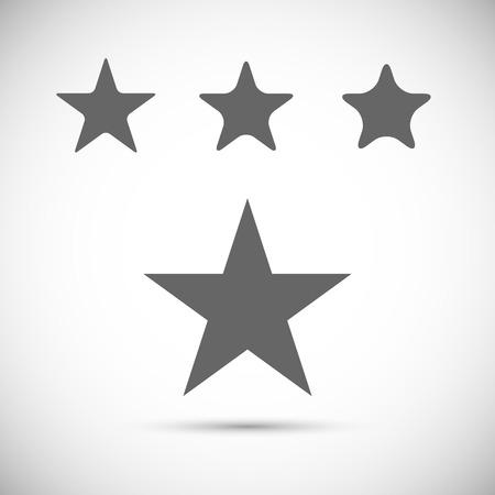 Classic star. Vector icon Illustration