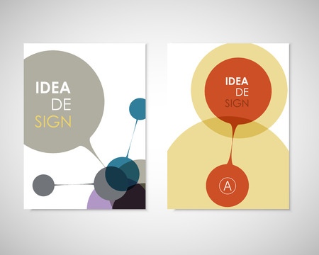 Circle Connection. Cover design for medical, social reports and presentations, technology and your ideas