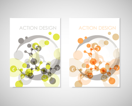 Connect vector templates for brochure, flyer, cover magazine or annual report. Molecule structure and communication